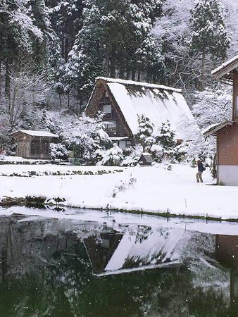 Góc nhỏ của ngôi làng. Lúc cao điểm của mùa đông, ngôi làng có thể bị bao phủ bởi 1-2 mét tuyết.
