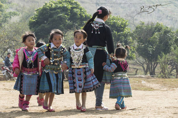 Những nụ cười hồn nhiên ngày Tết - Ảnh: Nguyễn Vũ Phước