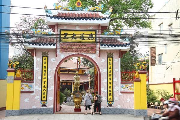 Đền Đức Thánh Trần Hưng Đạo tại đường Võ Thị Sáu, Quận 1. Ảnh: mapio.net