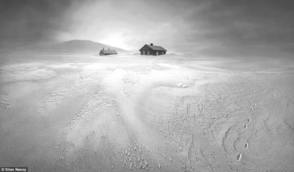 Bão tuyết ở vườn quốc gia Hardangervidda