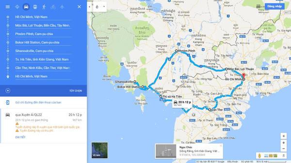 Hành trình Campuchia với 1.000 km.