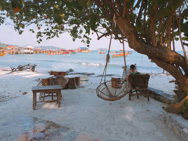 Một góc yên tĩnh ở trên đảo Koh Rong.