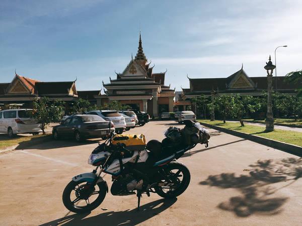 Cửa khẩu bên phía Campuchia.