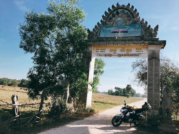Cảnh làng quê Campuchia.