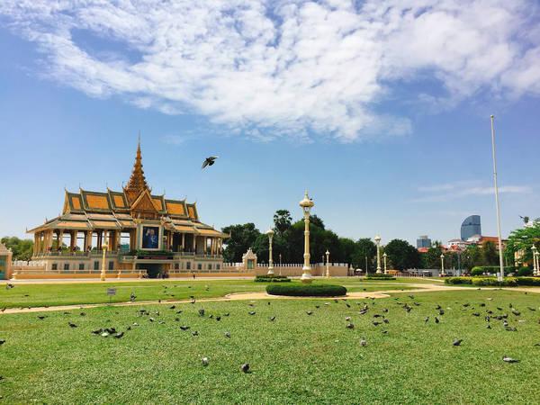Cung điện hoàng gia Campuchia.
