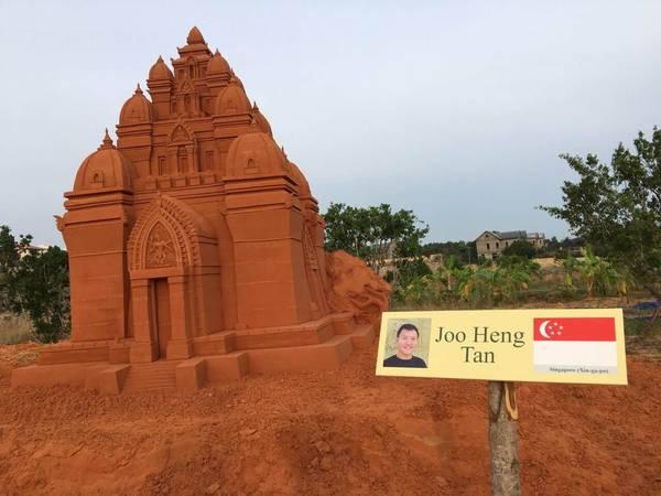 Tác phẩm Tháp Po Nagar tác phẩm của Joo Heng Tan đến từ Singapore. Ảnh: congan