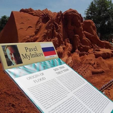 Tác phẩm thể hiện truyện Sơn Tinh – Thủy Tinh của Pavel Mylnikov đến từ Nga. Ảnh: @ketttlin