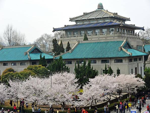 Là một trong những trường đại học đẹp nhất ở Trung Quốc, Đại học Vũ Hán không chỉ thu hút bởi lịch sử lâu đời, mà còn ở con đường hoa anh đào đua nở.