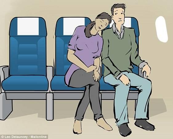 Bờ vai người bên cạnh: Chuyến bay là nơi tuyệt vời để gặp gỡ mọi người, và nếu bạn và người ngồi bên cạnh đều cảm thấy thoải mái, đừng ngại ngần mượn bờ vai của họ vài tiếng.
