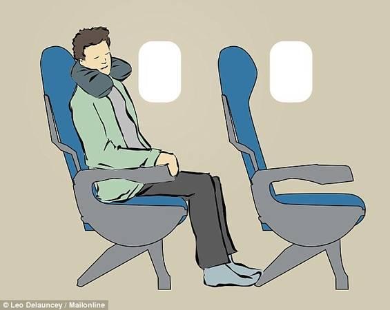 Gối ngủ: Dù bạn không ngồi ghế giữa, không cạnh cửa sổ, cũng không có gì cản việc bạn chợp mắt một lát, chỉ cần bạn có mang theo một chiếc gối hỗ trợ cổ. Dạng gối hình chữ C, bao quanh cổ sẽ giúp bạn ngủ ngon khi ngồi trên ghế máy bay.