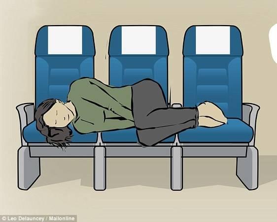 Ngả ghế ra phía sau: Trạng thái ngả người về phía sau sẽ giúp bạn nhanh chìm vào giấc ngủ. Trước khi ngả ghế, nên quan sát và lịch sự hỏi người ngồi sau xem điều đó có gây ảnh hưởng đến họ không.