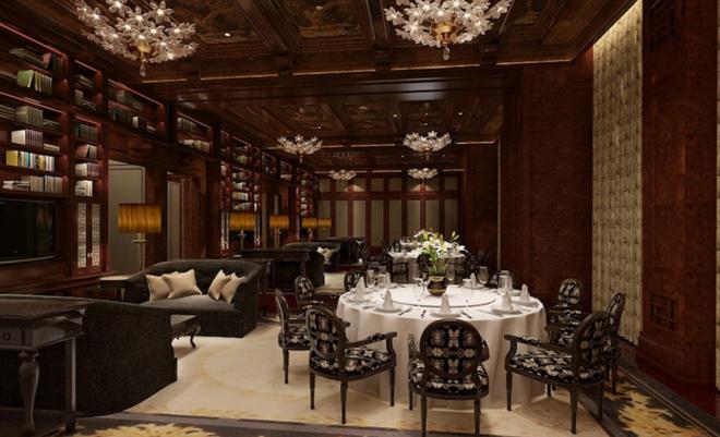 Khách sạn có 3 nhà hàng và hai sảnh chờ riêng biệt cho thực khách hút xì gà.