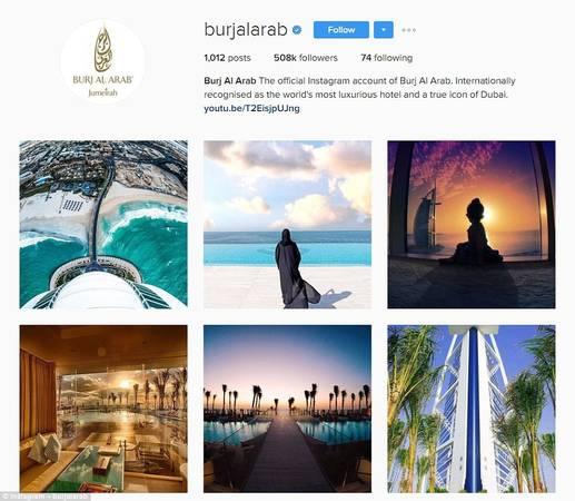 """Khách sạn đăng hơn 1.000 ảnh trên tài khoản Instagram, tự xưng là """"khách sạn sang trọng nhất thế giới""""."""