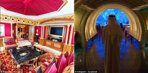 Một số bức ảnh Instagram cho người dùng chiêm ngưỡng nội thất lộng lẫy của khách sạn.