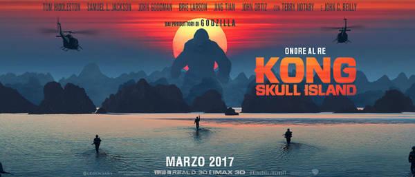 Hạ Long trên poster phim bom tấn Kong: Skull Island.  Ảnh: sienacinema.it