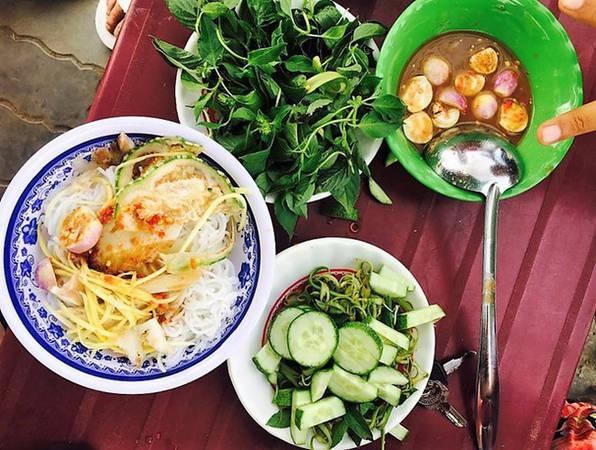 Món bún mắm nêm đậm đà của Ninh Thuận vừa rẻ vừa thơm ngon.