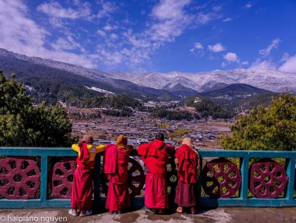 Cao nguyên Bhutan phủ tuyết