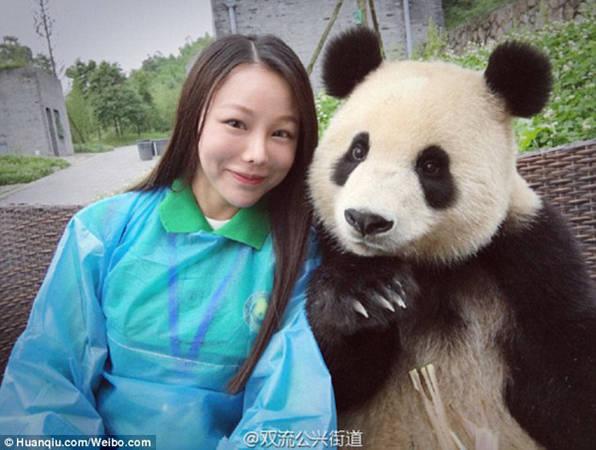 Những chú gấu ở đây rất thân thiện, tạo dáng chuyên nghiệp khi có khách yêu cầu. Một video được lan truyền cách đây ít lâu đã trở thành cơn sốt trên mạng xã hội Trung Quốc, ghi lại cảnh một nữ du khách dùng gậy tự sướng chụp ảnh, đã được chú gấu ngồi cạnh căn chỉnh lại góc ảnh cho phù hợp.