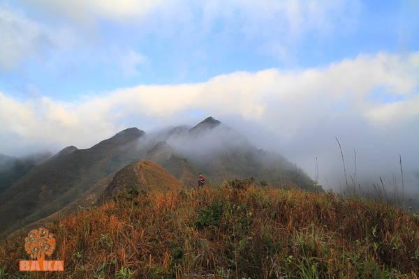Cung đường dẫn du khách lên cao dần, như lên đến trời. Ở những đoạn cao nhất, du khách được những đám mây trắng ập vào người.