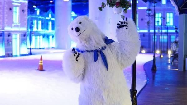 Đến đây bạn sẽ được chào đón bởi chú gấu Polar cực đáng yêu. Ảnh: FB snowtownsaigon