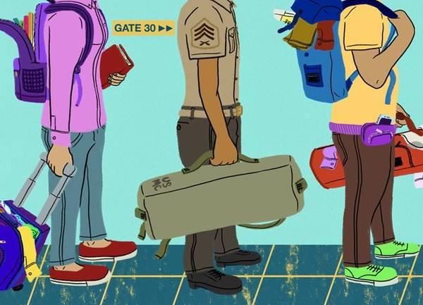 Những người lính luôn có cách sắp xếp hành lý gọn nhẹ và hiệu quả.