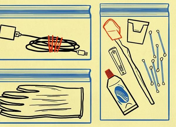 Các loại túi ziploc sẽ giúp bạn phân loại và sắp xếp đồ khoa học.