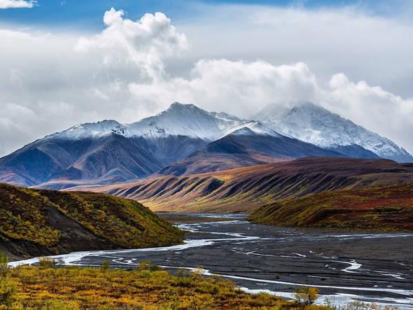 Dòng sông Toklat ở Công viên quốc gia Denali