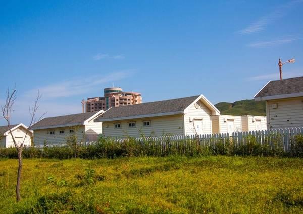 Những ngôi nhà do chính phủ Triều Tiên thu hồi.