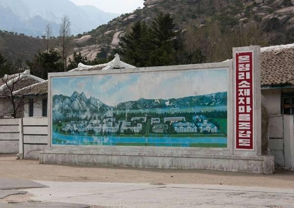 Tấm bản đồ hoàn chỉnh của khu nghỉ dưỡng Kumgang. Chính phủ Triều Tiên đang cố gắng tìm nhà đầu tư mới cho công trình này.