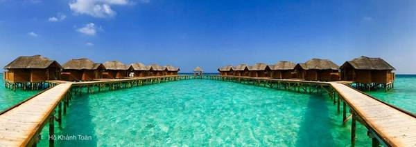 Một resort ở Maldives.