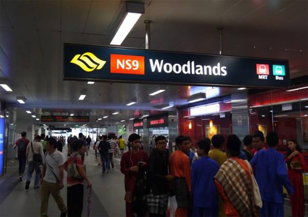 Ga Woodlands, nơi bạn chuyển xe buýt để đi tới Malaysia.