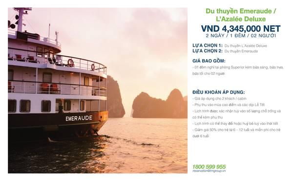 summer-escape-ivivu-Emeraude _  L'Azalee Cruise 2 Ngày 1 Đêm