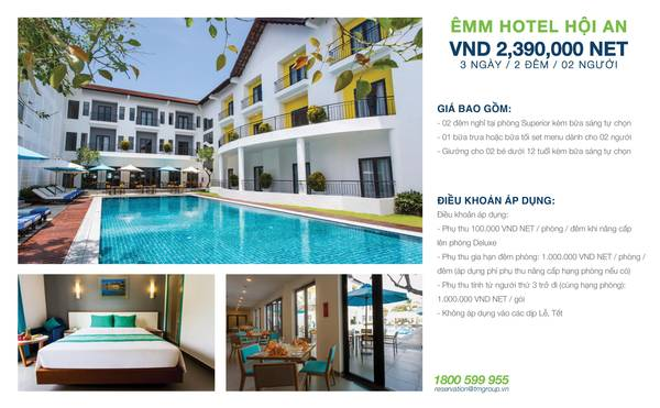 summer-escape-ivivu-Khách sạn Êmm Hội An