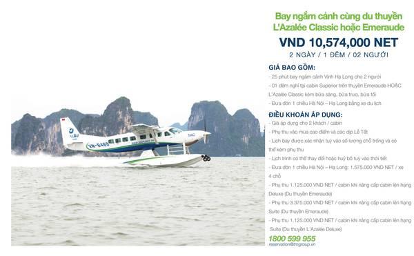 summer-escape-ivivu-Thủy phi cơ ngắm cảnh + L'Azalee-Emeraude Cruise 2 Ngày 1 Đêm