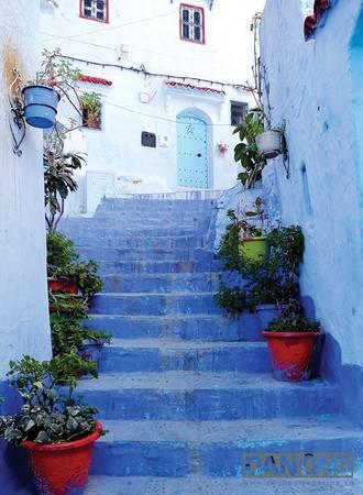 Những bậc thang đẹp hút hồn tại Chefchaouen.