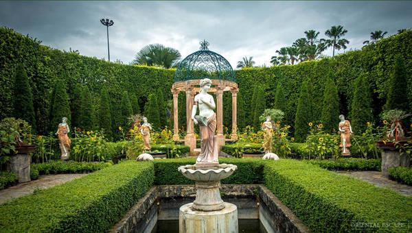 Các loài cây được chăm sóc, cắt tỉa kỳ công, bài trí đẹp mắt theo phong cách Pháp, Italy... Ảnh: Orientalescape.