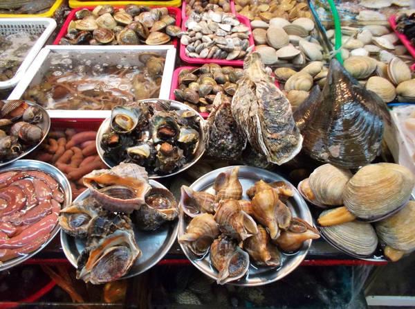 14. Nếm hải sản tươi ở chợ cá Jagalchi: Là chợ hải sản lớn nhất nước, Jagalchi ở Busan ở nơi bạn chắc chắn phải ghé qua, nếu hải sản là món ưa thích của bạn. Tôm cá nơi đây tươi đến mức nào? Bạn có thể chọn cá từ quầy hàng bất kỳ, và xem người bán nấu nó ngay trước mắt. Ảnh: Greatfountain.