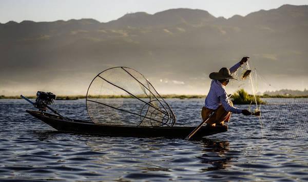 Phương pháp đánh bắt cá truyền thống được cho là an toàn với hệ thống sinh thái của hồ.