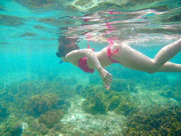 Snorkeling tại Cadlao Lagoon.