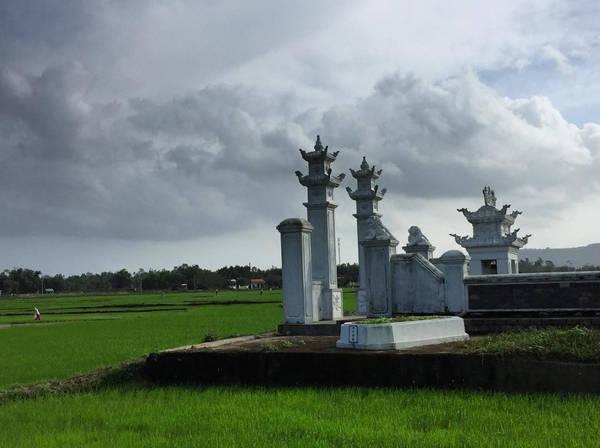 Cảnh làng Túy Loan đẹp như bức tranh cổ về một làng quê Việt Nam với đình làng, cây đa, bến nước, những cánh đồng lúa xanh rì, trải rộng ngút tầm mắt. Ảnh: Divetripper/Instragram.