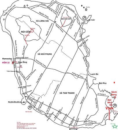 Bản đồ đảo Phú Quý.