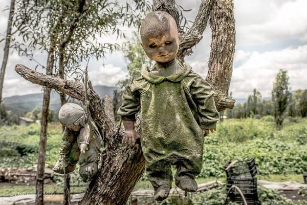 Đảo búp bê (Isla de las Munecas), Mexico: Theo truyền thuyết, một cô bé chết đuối tại con kênh gần hòn đảo, và linh hồn cô chưa bao giờ yên nghỉ. Julian Santana Barrera tìm thấy một con búp bê gần nơi cô bé qua đời và bắt đầu thu thập bộ sưu tập kỳ quái này để xoa dịu linh hồn đứa trẻ. Mặc dù nhiều hiện tượng siêu nhiên xảy ra quanh đảo, các du khách vẫn sẵn lòng tới đây.