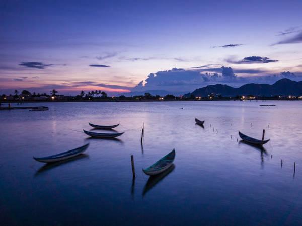 Hoàng hôn tím (làng Tri Thủy, Phan Rang) - Ảnh: Nguyễn Thanh Hải