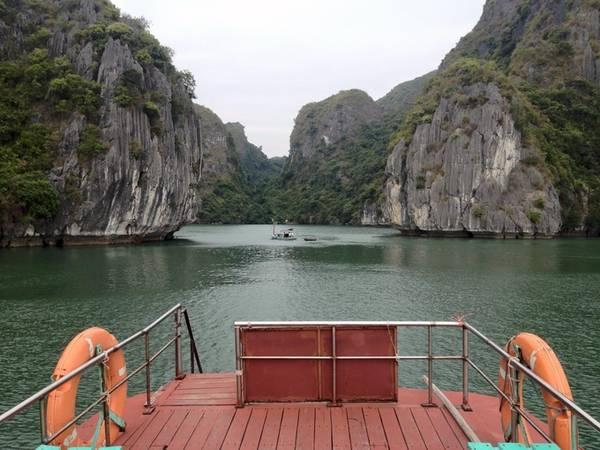 Du khách có thể thuê tàu từ cảng Bến Bèo đến làng chài Việt Hải, hoặc đi bộ xuyên rừng trong Vườn quốc gia Cát Bà, Hải Phòng 5 tiếng.