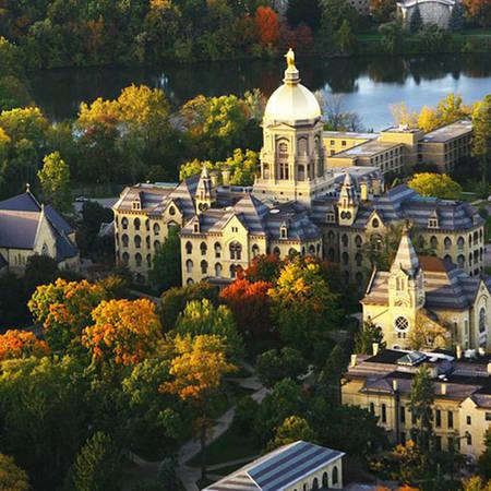 Hơn 80% sinh viên đại học của Notre Dame sống trong các ký túc xá trong khuôn viên trường.