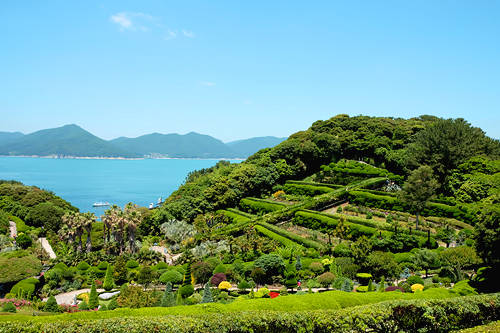 Oedo-Botania nằm ở đảo Geoje được mệnh danh là vườn địa đàng giữa biển khơi.