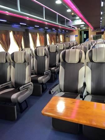 Bên trong tàu hỏa 5 sao tuyến Sài Gòn - Nha Trang. Ảnh: vnexpress