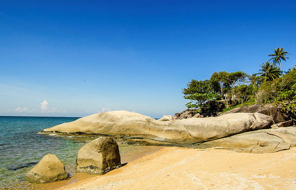 Trên đảo có nhiều bãi biển đẹp như bãi Thiên Tuế, nơi có đình thờ Nam Hải, thờ cá Ông phù hộ cho ngư dân đi biển.