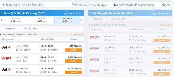Chặng Hà Nội - Đà Nẵng.