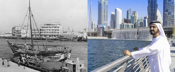 Thành phố ngọc trai: Trước du lịch, Dubai kiếm tiền nhờ dầu mỏ. Còn trước thời dầu mỏ, đánh cá, nông nghiệp và lặn bắt ngọc trai là những ngành kinh tế chính ở xứ sở sa mạc này. Vào đầu thế kỷ 20, lạch Dubai là nơi neo đậu của hơn 300 con tàu săn ngọc trai, với hơn 7.000 thủy thủ. Họ lặn khoảng 14 tiếng mỗi ngày, từ giữa tháng 5 tới đầu tháng 9. Ảnh: What's On Dubai.
